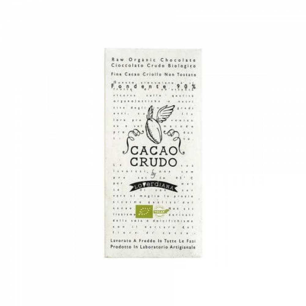 Шоколад Органик Премиум из 90% какао-пасты из необжаренных какао-бобов без глютена, Cacao Crudo, 50 гр