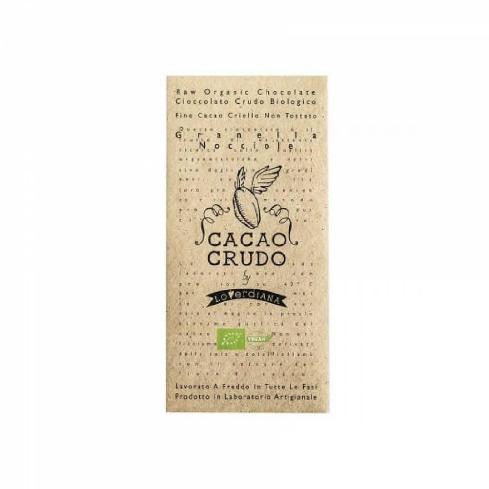 Шоколад Органик Премиум из 50% какао-пасты из необжаренных какао-бобов с Фундуком без глютена, Cacao Crudo, 50 гр