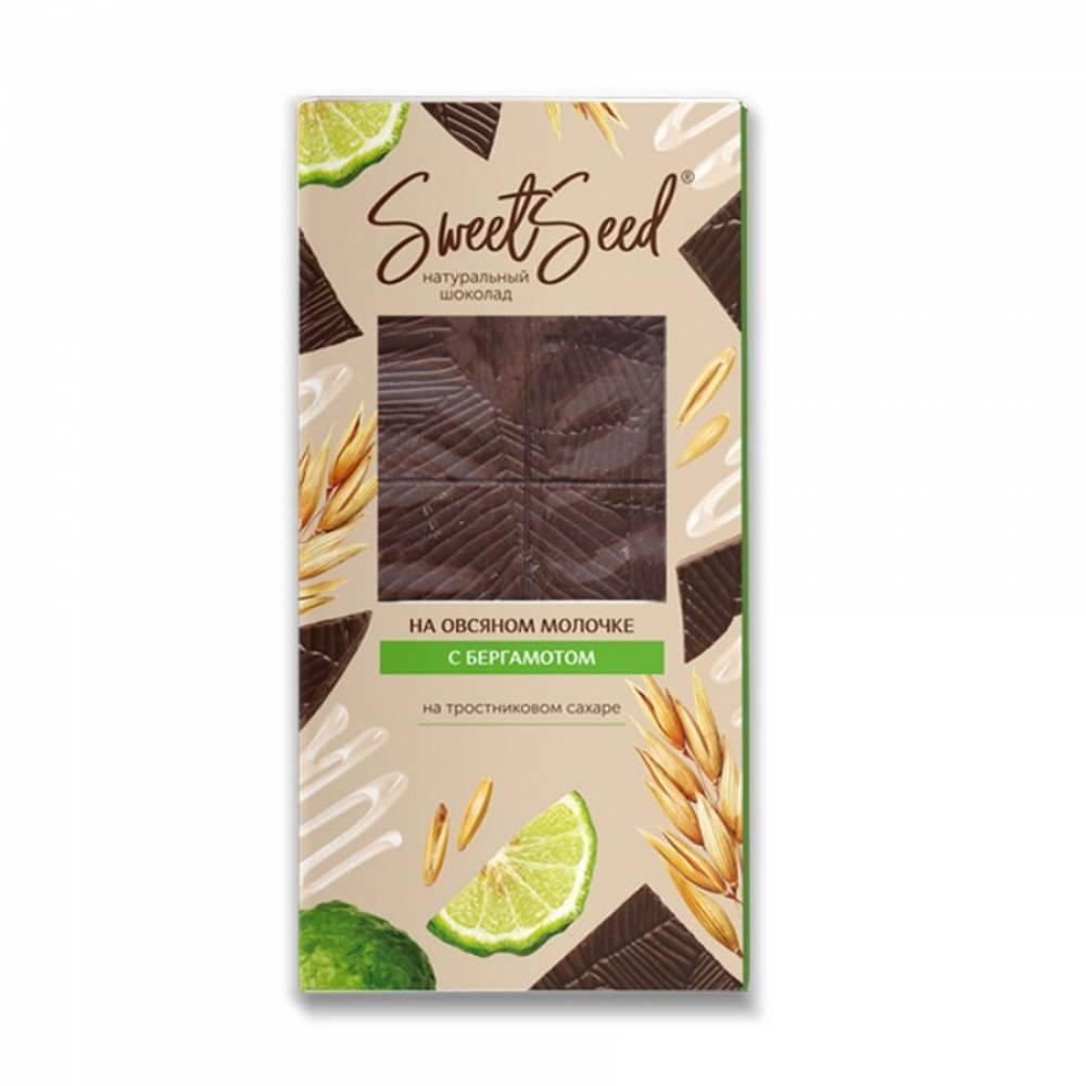 Шоколад натуральный на овсяном молочке Образ жизни с бергамотом, 85 гр