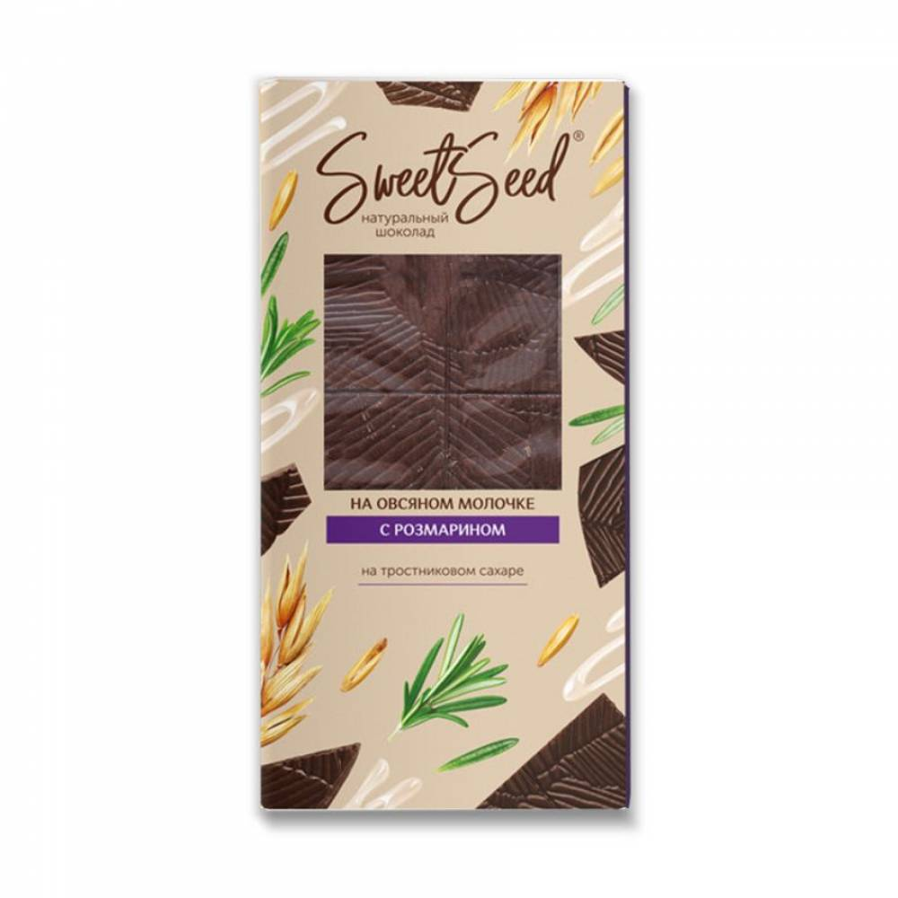 Шоколад натуральный на овсяном молочке Образ жизни с розмарином, 85 гр