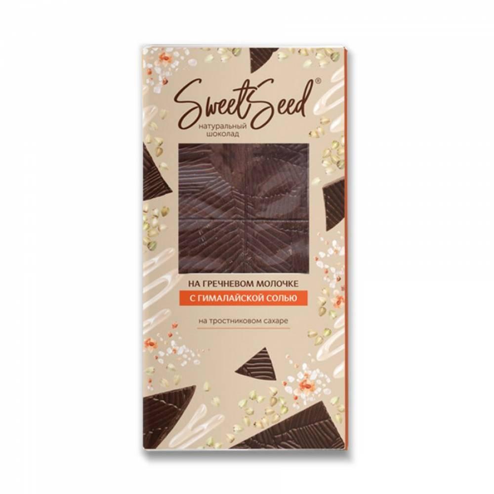 Шоколад натуральный на гречневом молочке Образ жизни с солью, 85 гр
