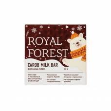 Шоколад из кэроба Royal Forest с фундуком, 75 гр