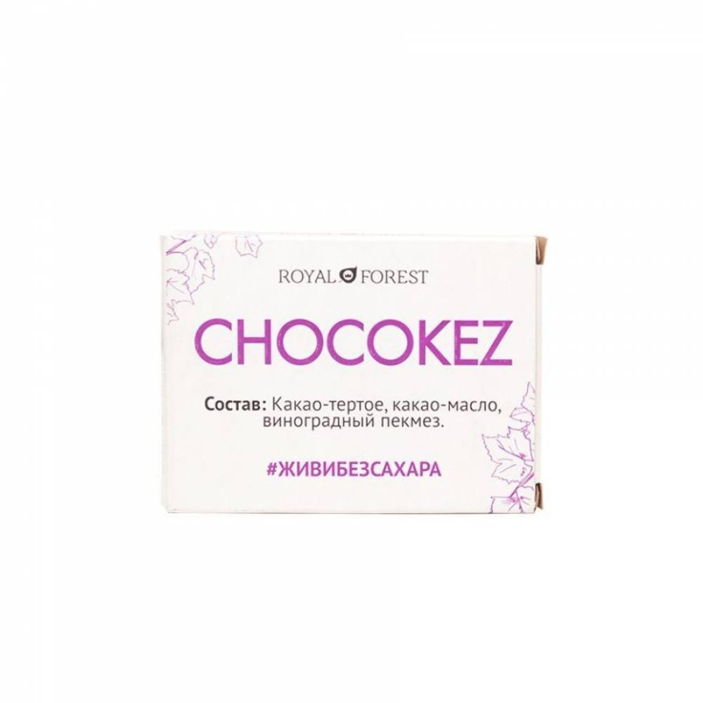 Шоколад Royal Forest Chocokez на виноградном пекмезе, 30 гр