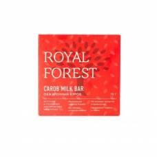 Шоколад из кэроба Royal Forest молочный из обжаренного кэроба, 75 гр