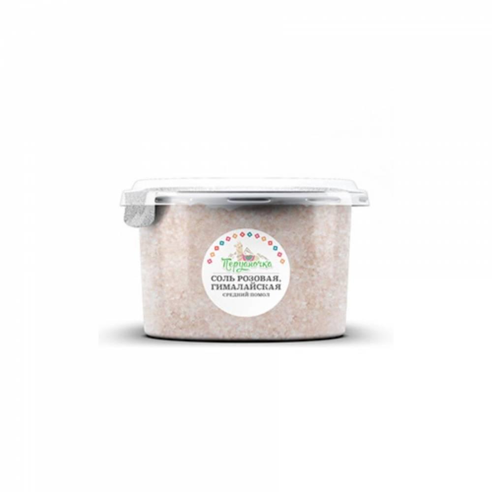 Розовая гималайская соль Перуаночка, средний помол, 500 гр