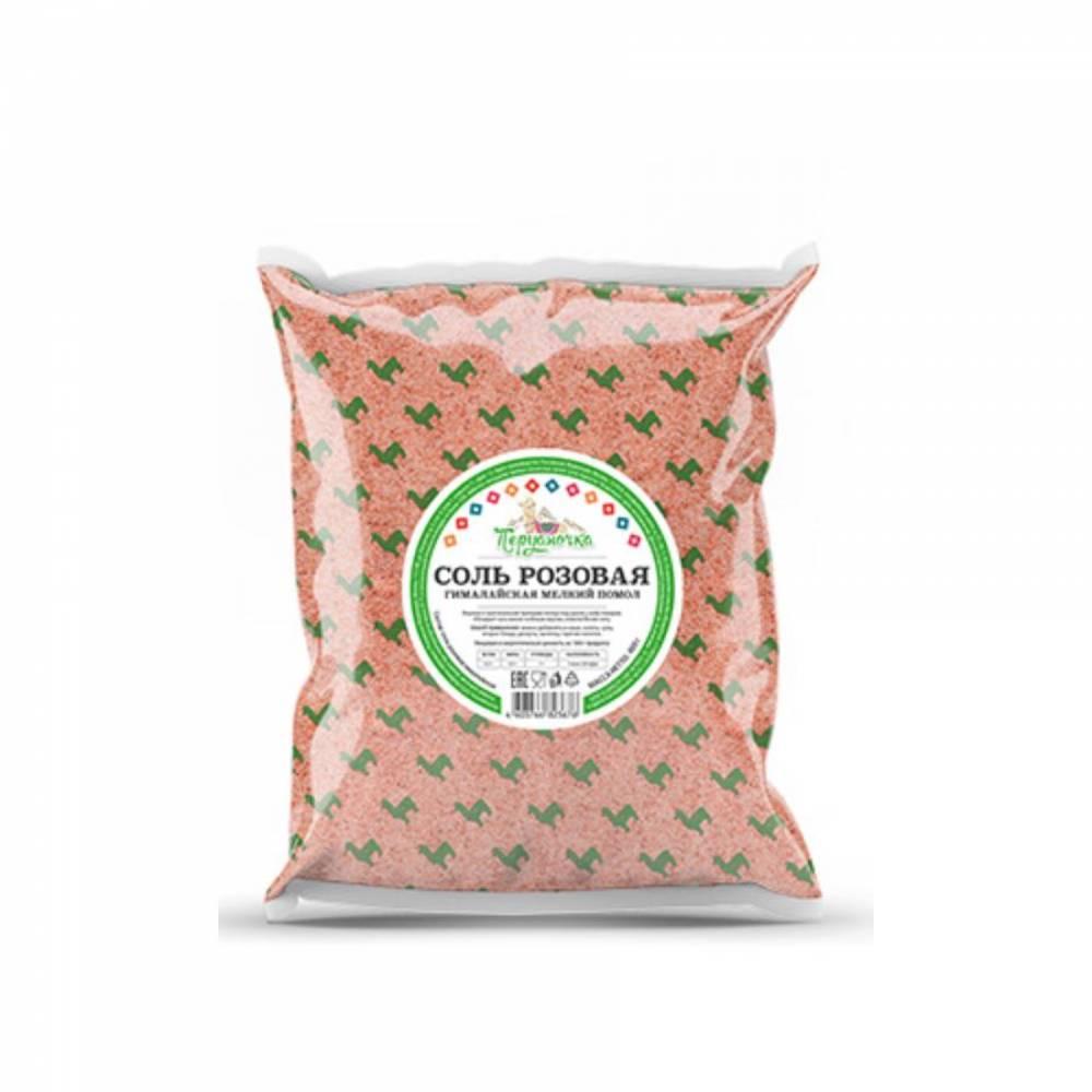 Розовая гималайская соль Перуаночка, мелкий помол, 1000 гр