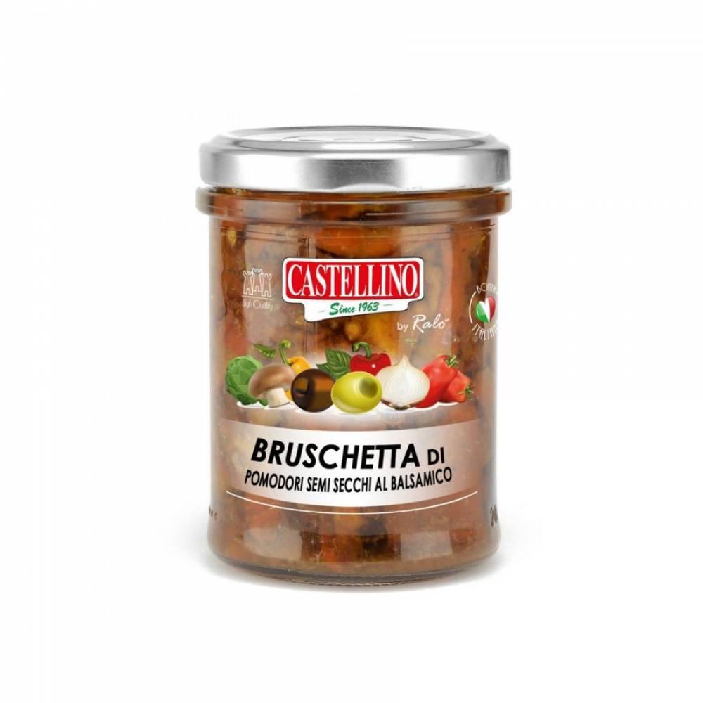 Соус Брускетта из полусушёных помидоров с бальзамическим уксусом, Castellino, 180 гр