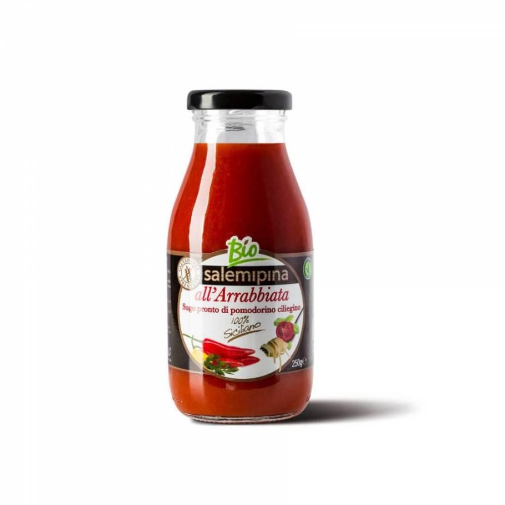 Томатный соус без глютена из сицилийских помидоров черри Арабьятта, Salemipina, 250 гр