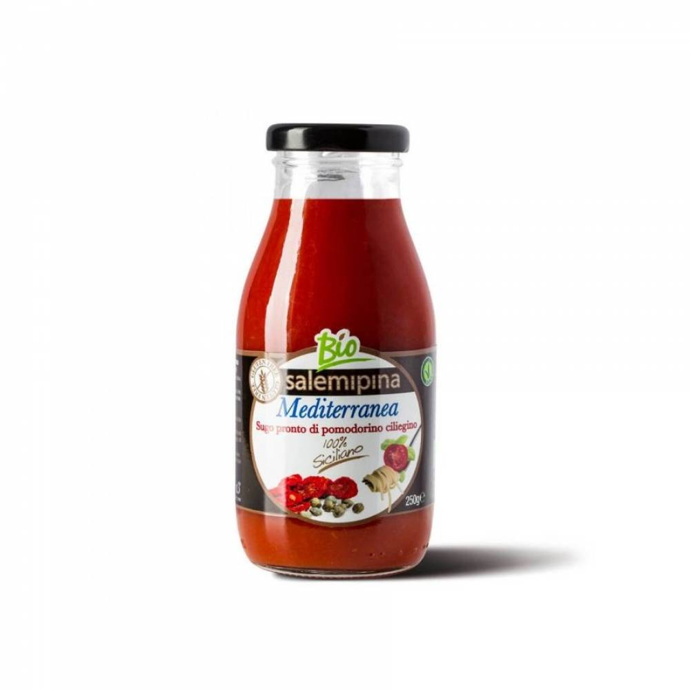 Томатный соус без глютена из сицилийских помидоров черри Средиземноморский, Salemipina, 250 гр