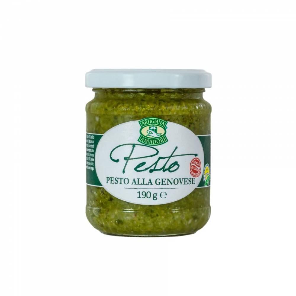 Соус Песто Дженовезе на подсолнечном масле, Artigiana Amadori, 190 гр