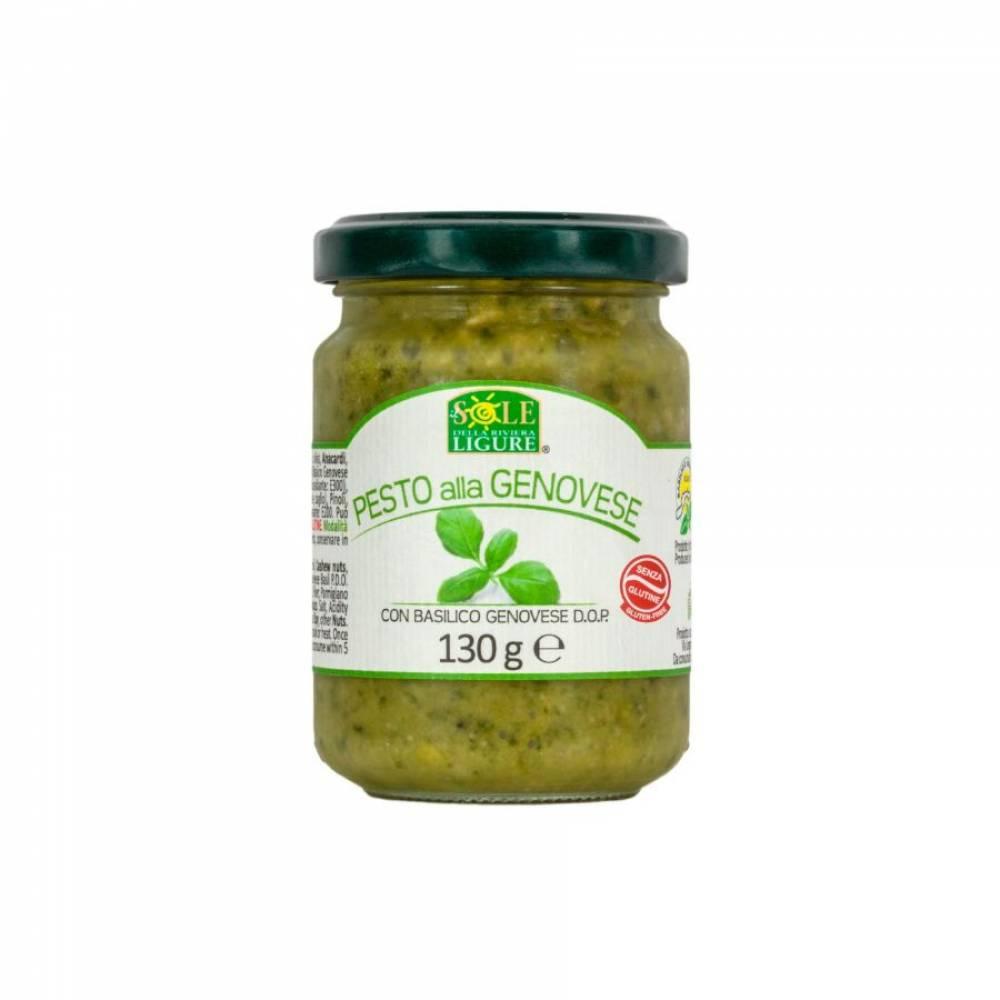 Соус Песто Дженовезе на оливковом масле с базиликом DOP, Artigiana Genovese, 190 гр