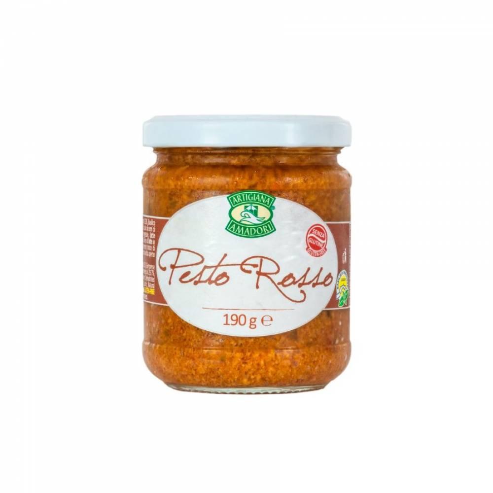 Соус Песто Россо на подсолнечном масле, Artigiana Amadori, 190 гр