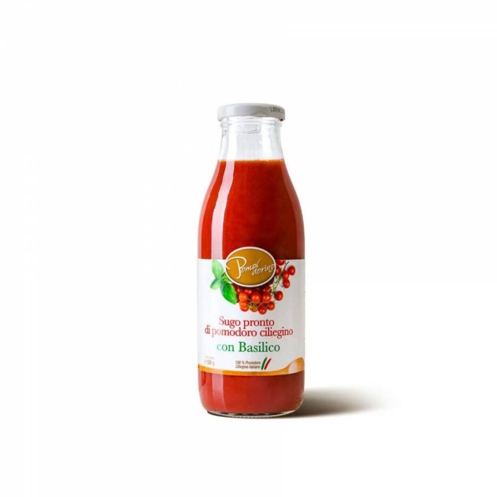 Томатный соус из сицилийских помидоров черри с базиликом, Pomodorino, 500 гр