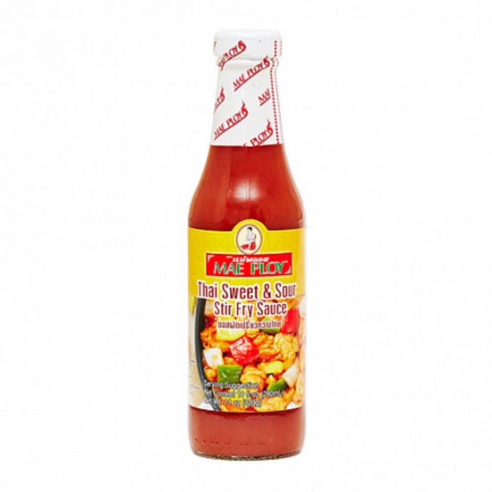 Соус тайский кисло-сладкий для обжарки MAE PLOY, 280 мл