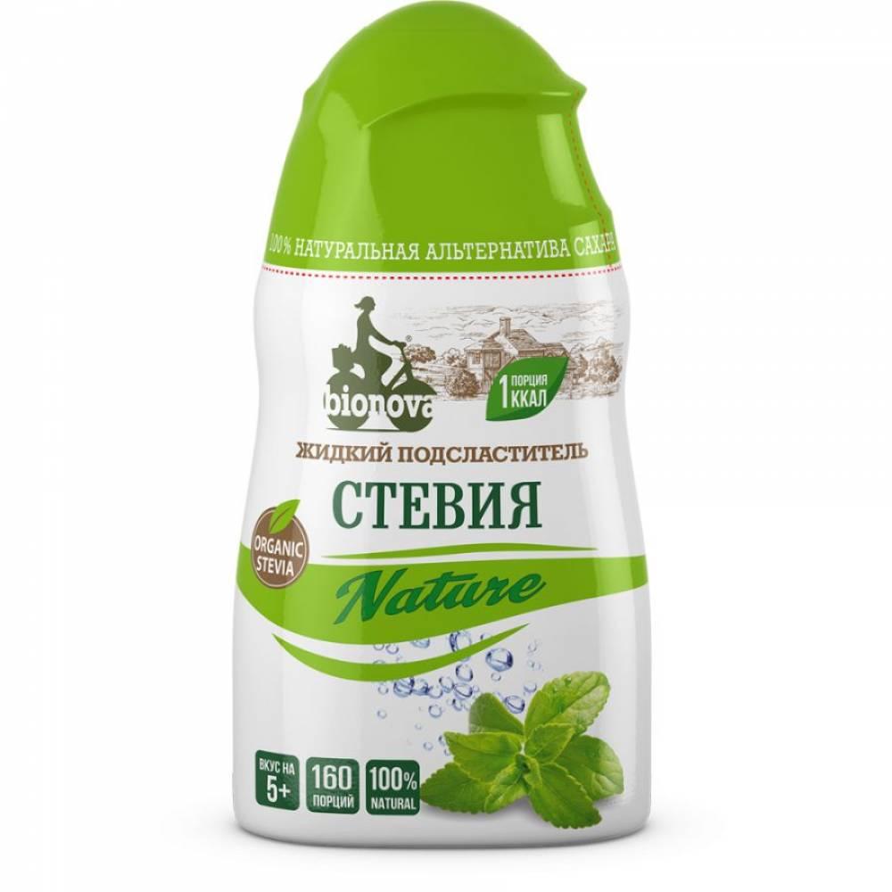 Подсластитель жидкий Стевия Nature Бионова, 80 гр