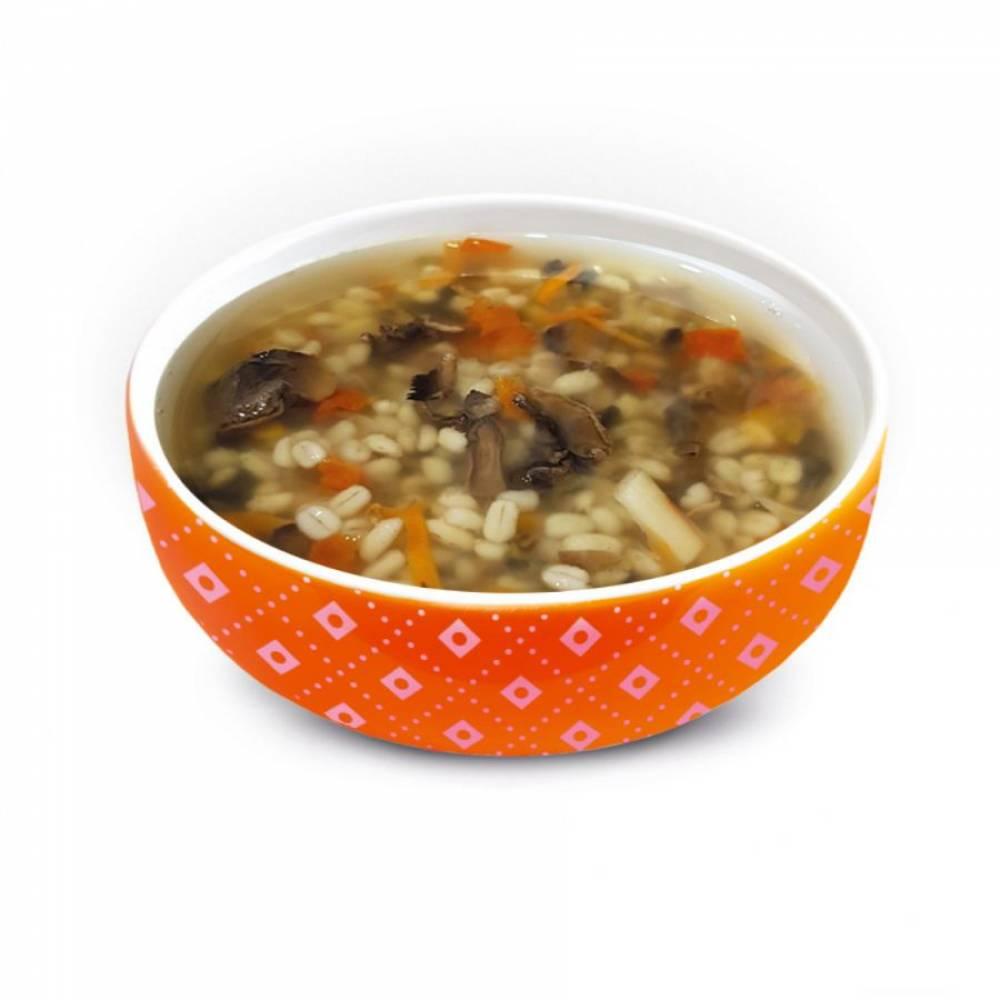 Суп дня грибной с перловкой - вторник, Живые снеки, 100 гр