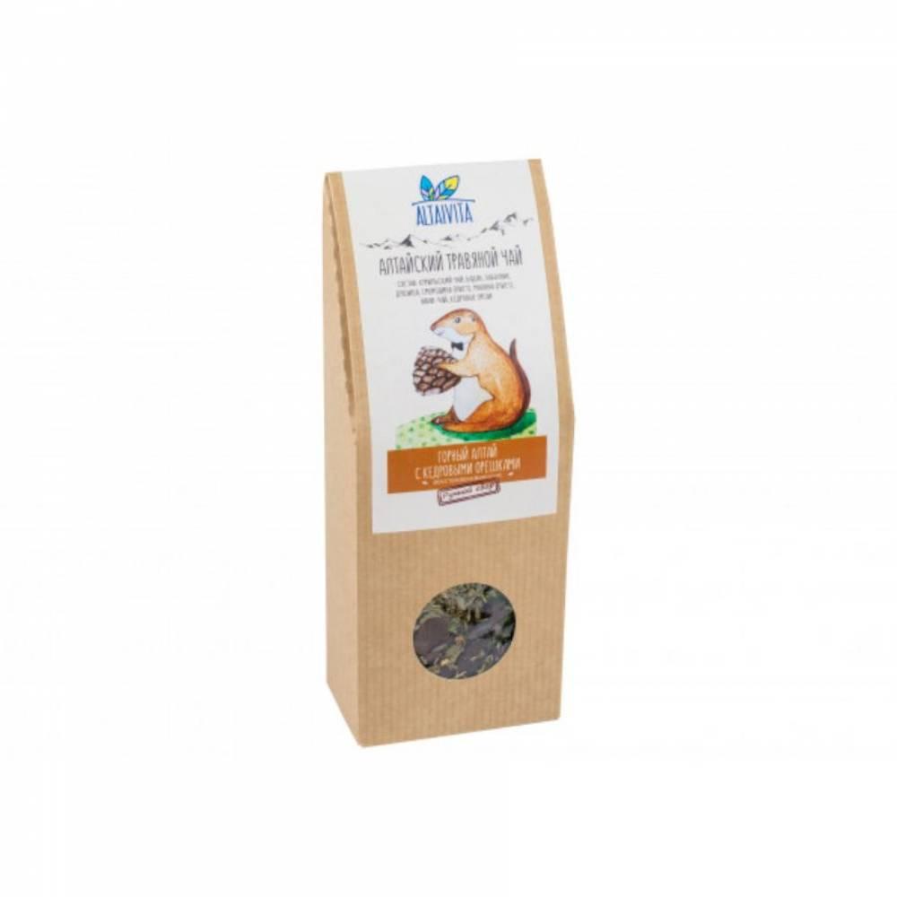 Травяной чай Горный Алтай с кедровыми орешками Altaivita, алтайский, 70 гр