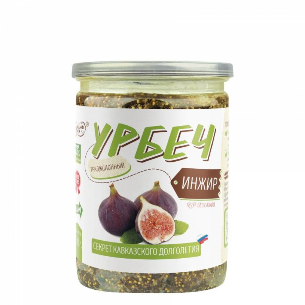Урбеч из инжира Намажь Орех, 230 гр