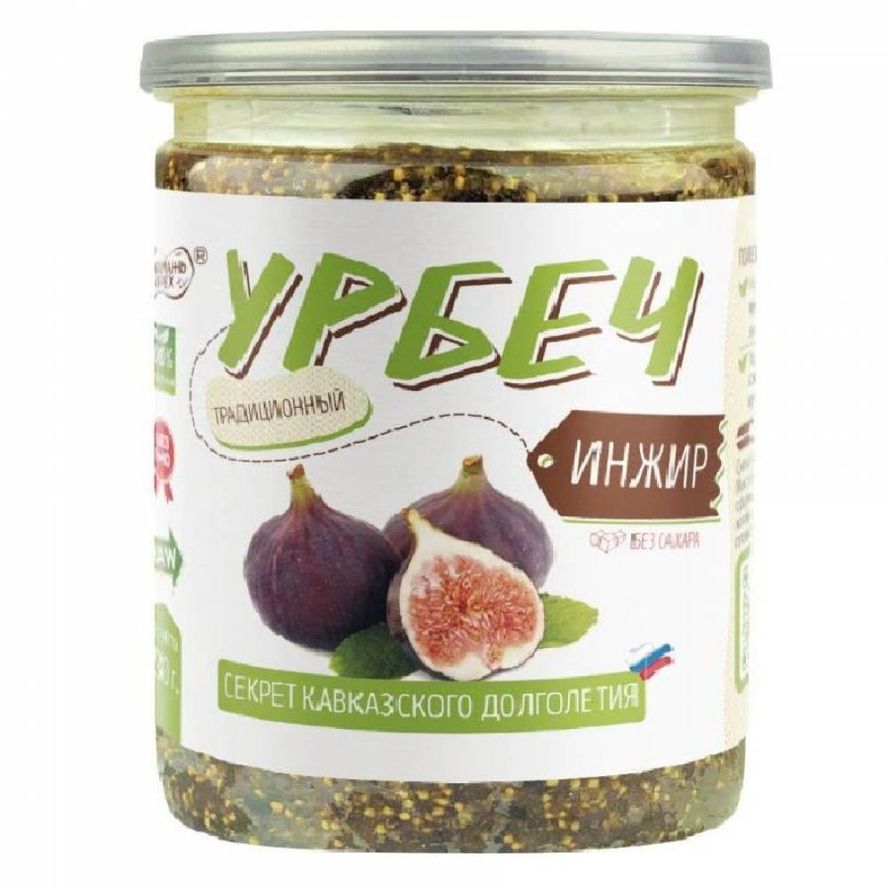 Урбеч из инжира Намажь Орех, 450 гр