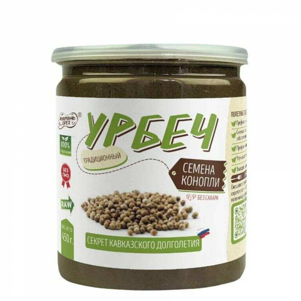 Урбеч из конопли Намажь Орех, 450 гр