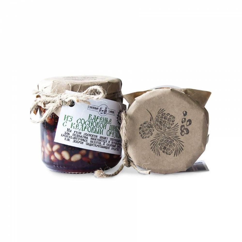 Варенье из сосновых шишек с кедровым орехом Таежный тайник, 240 гр
