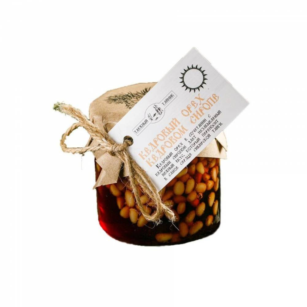 Кедровый орех в кедровом сиропе Таежный тайник, 240 гр