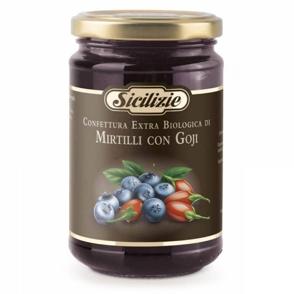 Конфитюр из Черники и ягод Годжи BIO, Sicilizie, 360 гр