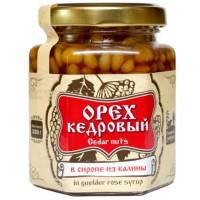 Ядро кедрового ореха в сиропе из калины Сибирский Знахарь, 220 гр