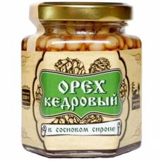 Ядро кедрового ореха в сосновом сиропе Сибирский Знахарь, 220 гр