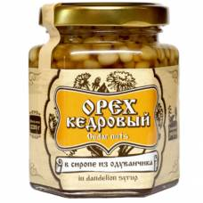 Ядро кедрового ореха в сиропе из одуванчика Сибирский Знахарь, 220 гр