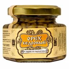 Ядро кедрового ореха в сиропе из одуванчика Сибирский Знахарь, 110 гр
