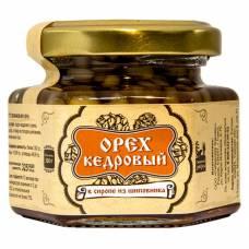 Ядро кедрового ореха в сиропе из шиповника Сибирский Знахарь, 110 гр