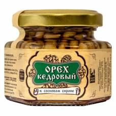 Ядро кедрового ореха в сосновом сиропе Сибирский Знахарь, 110 гр