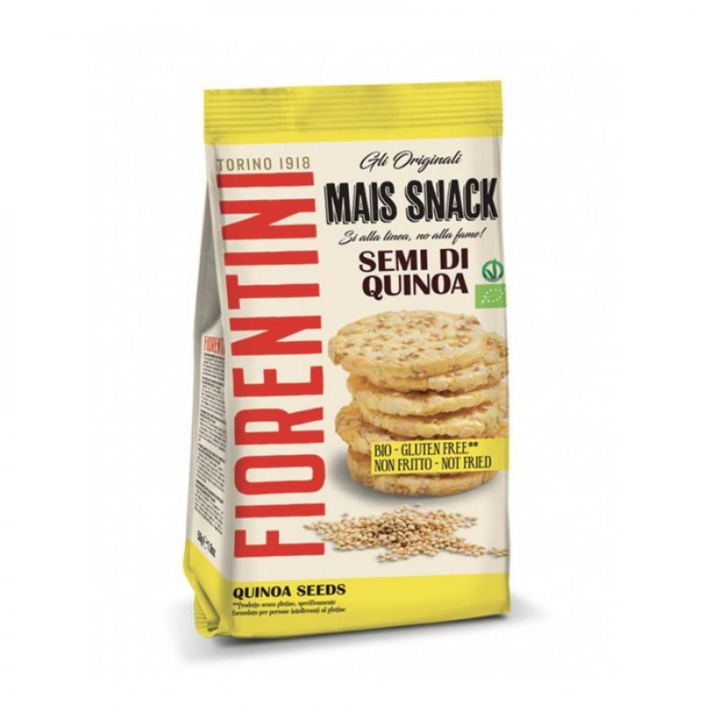 Кукурузные мини-хлебцы без глютена с киноа, Fiorentini, 50 гр