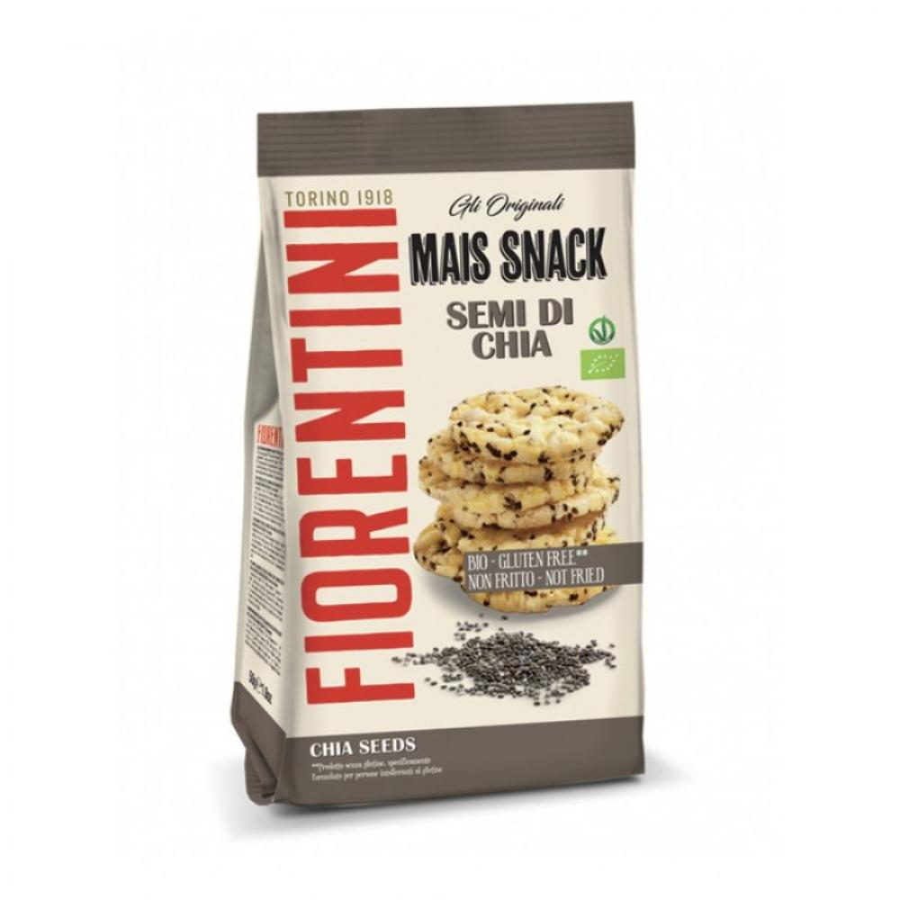 Кукурузные мини-хлебцы без глютена с семенами чиа, Fiorentini, 50 гр