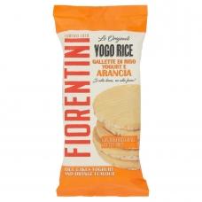 Хлебцы без глютена из воздушного риса, покрытые апельсиновым йогуртом, Fiorentini, 100 гр